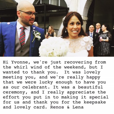 leena and Renos Wedding Feedback