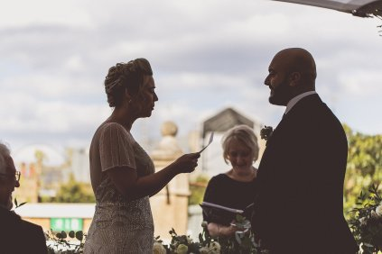 Tender moment saying their vows - credit We are // The Clarkes